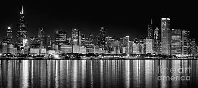Chicago Photograph - Chicago Skyline by Jeff Lewis