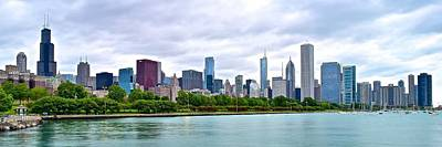 Chicago Stretches Out Art Print by Frozen in Time Fine Art Photography