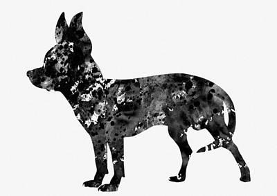 Chihuahua Digital Art - Chihuahua-black by Erzebet S