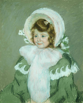 Pastel - Child In Green Coat by Mary Cassatt