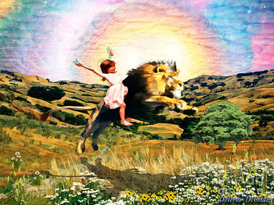 Art Print featuring the digital art Child Like Faith by Dolores Develde