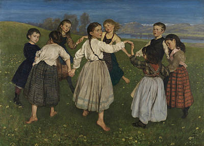 Painting - Children Dancing In A Ring by Treasury Classics Art