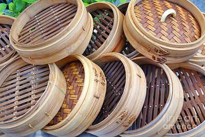 Photograph - Chinese Bamboo Steamers by Yali Shi