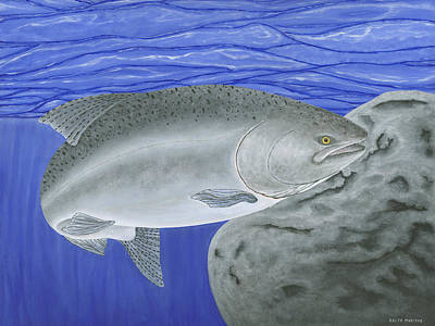 Fishing Painting - Chinook Salmon by Ralph Martens