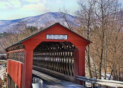 Photograph - Chiselville Covered Bridge Vermont by JAMART Photography