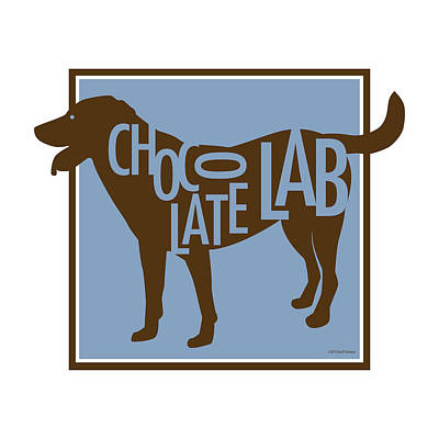 Digital Art - Chocolate Lab by Geoff Strehlow