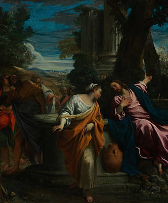 Painting - Christ And The Samaritan Woman by Annibale Carracci