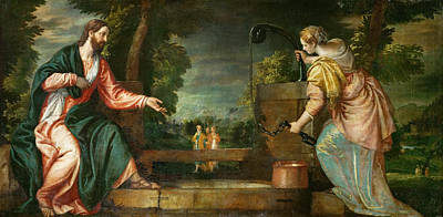 Samaritan Painting - Christ And The Samaritan Woman At The Well by Paolo Veronese