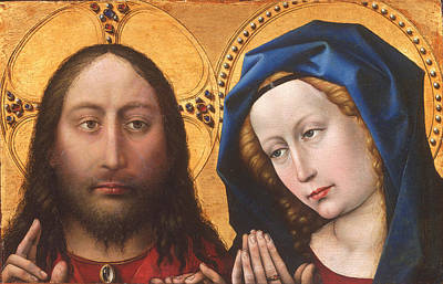 Painting - Christ And The Virgin by Robert Campin