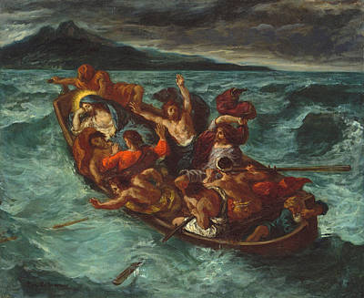 Miracle Painting - Christ Asleep During The Tempest by Eugene Delacroix
