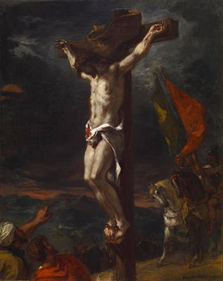 Delacroix Painting - Christ On The Cross by Eugene Delacroix