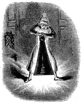 Drawing - Dickens Christmas Carol by John Leech