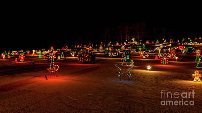 Photograph - Christmas Holiday Display At La Salette Shrine In Enfield. by New England Photography