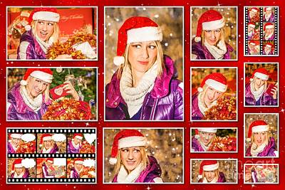 Photograph - Christmas Pictures Collage by Benny Marty