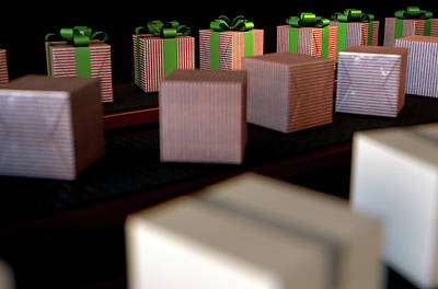 Produce Digital Art - Christmas Production Line by Allan Swart
