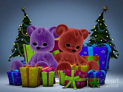 Shower Digital Art - Christmas Wish by Alexander Butler