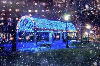 Photograph - Christopher Columbus Park - Boston North End by Joann Vitali