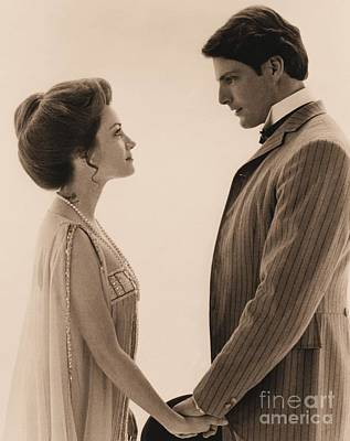 Christopher Reeve And Jane Seymour In Somewhere In Time. Art Print