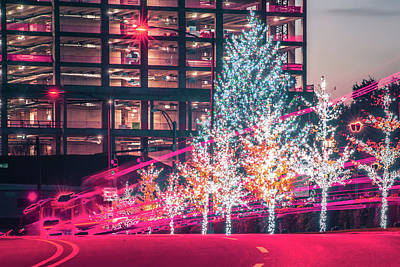 Basketball Patents - Chritmas Tree Lights And Decorations In The City by Alex Grichenko