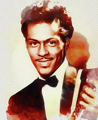 Rock And Roll Royalty-Free and Rights-Managed Images - Chuck Berry, Music Legend by John Springfield