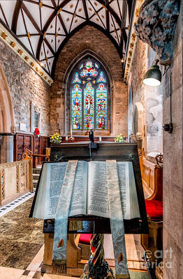 Aisle Photograph - Church Interior by Adrian Evans