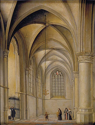 Church Interior Painting - Church Interior by Pieter Jansz Saenredam