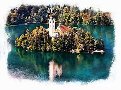 Photograph - Church Of The Assumption - Lake Bled, Slovenia by Joseph Hendrix