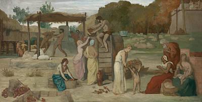 Painting - Cider by Pierre Puvis de Chavannes