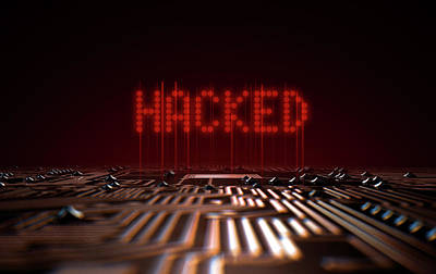 Corruption Digital Art - Circuit Board Hacked Text by Allan Swart