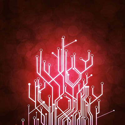Abstract Digital Photograph - Circuit Board by Setsiri Silapasuwanchai