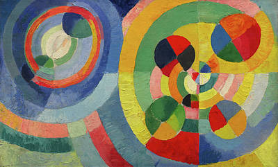 Lyrical Abstractions Painting - Circular Forms by Robert Delaunay