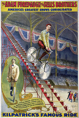 Drawing - Circus Poster, C1900.  by Granger