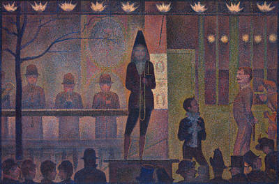 Circus Painting - Circus Sideshow by Georges Seurat