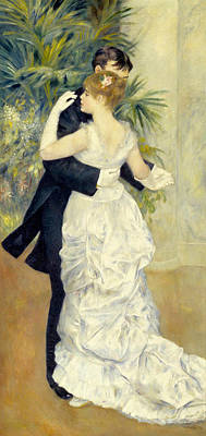 Ballroom Painting - City Dance by Pierre-Auguste Renoir