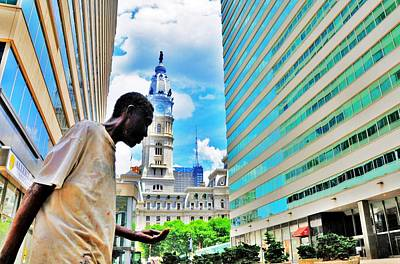 Photograph - City Hall Man by Andrew Dinh