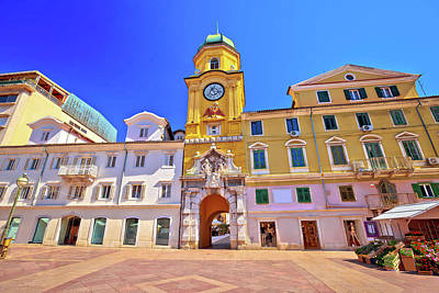 Photograph - City Of Rijeka Main Square And Clock Tower View by Brch Photography