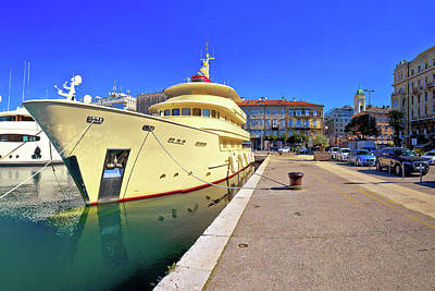 Photograph - City Of Rijeka Yachting Waterfront Panoramic View by Brch Photography