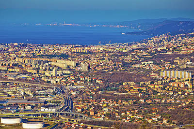 Photograph - City Of Trieste Aerial View by Brch Photography