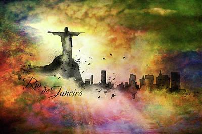 Painting - City Skyline Rio De Janeiro by Lilia D