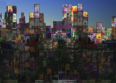 City Sunrise  Art Print by Andy  Mercer