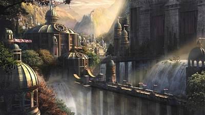 Digital Art - City by Super Lovely