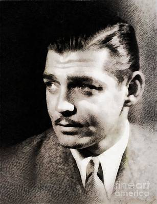 Musicians Royalty-Free and Rights-Managed Images - Clark Gable, Vintage Hollywood Actor by John Springfield