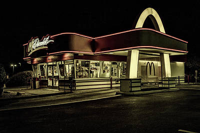 Mcdonalds Restaurant Photograph - Classic Golden Arches by Mountain Dreams
