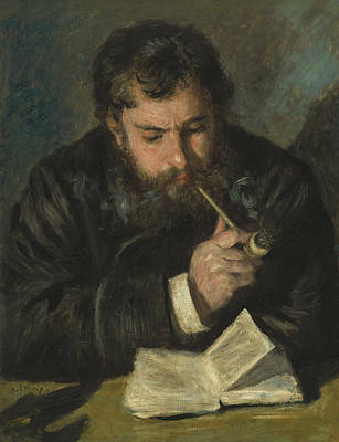 Book Jacket Painting - Claude Monet by Pierre Auguste Renoir