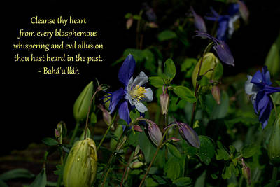 Photograph - Cleanse Thy Heart by Baha'i Writings As Art