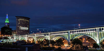 Photograph - Cleveland After Dark by Stewart Helberg