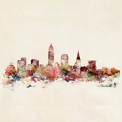 Painting - Cleveland Ohio Skyline by Bri B