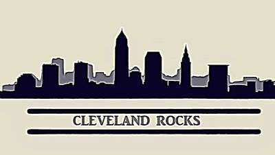 Cleveland Rocks Art Print by Dan Sproul