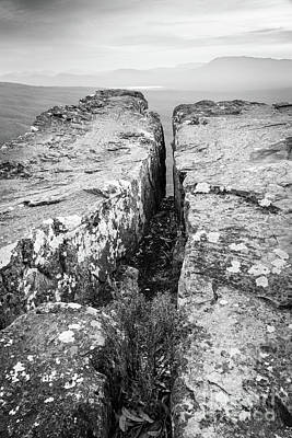 Photograph - Cliff Top Black And White by Tim Hester