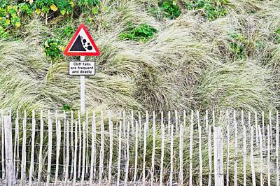 Cliff Warning Art Print